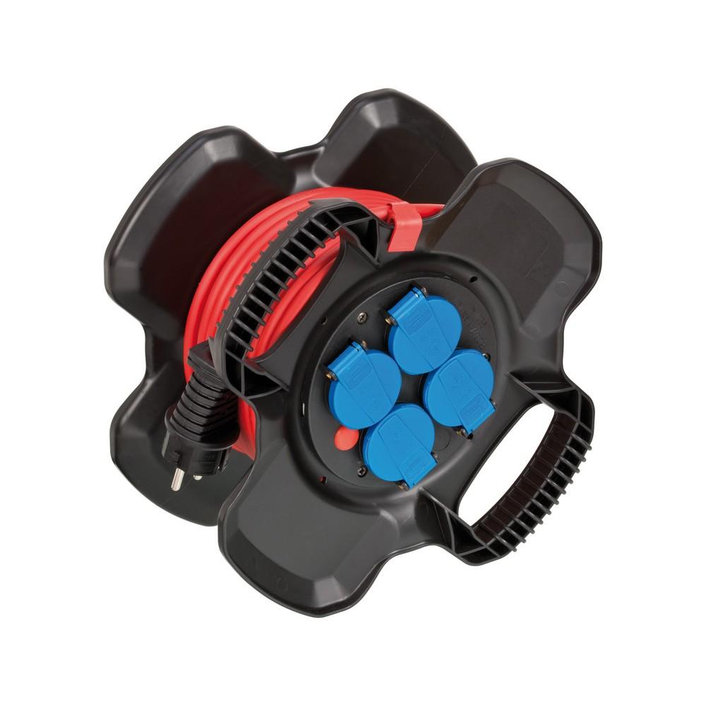 Przedłużacz na gumowym bębnie X-Gum IP44 10m N05V3V3-F3G1,5mm²