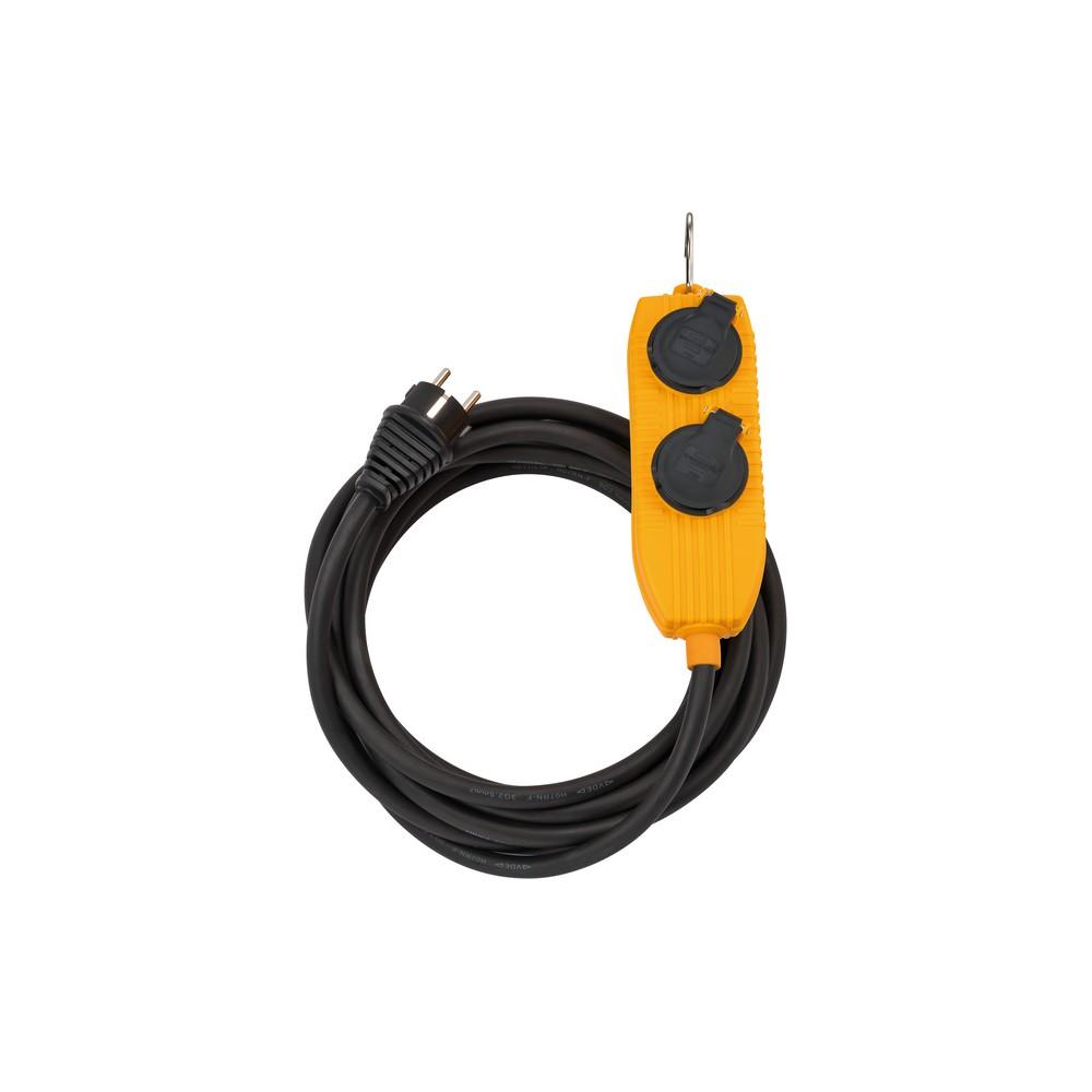 Przedłużacz Powerblock IP54 do zastosowań budowlanych 10m czarny H05RR-F 3G1,5mm²
