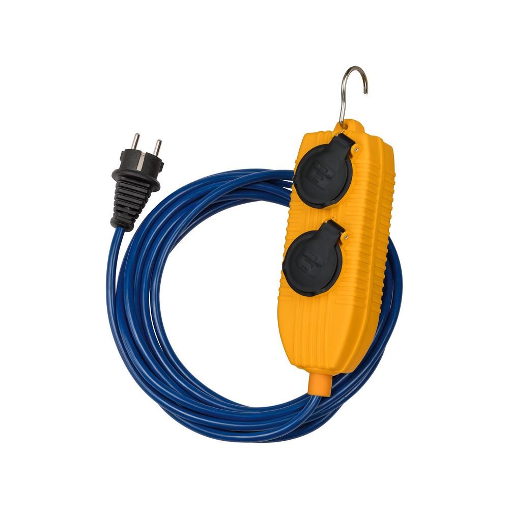 Przedłużacz Powerblock IP54 do zastosowań budowlanych 5m niebieski AT-N05V3V3-F 3G1,51,5mm²