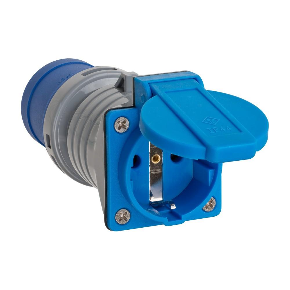 Adapter zestyk ochronny 230 V/CEE 16 A IP44