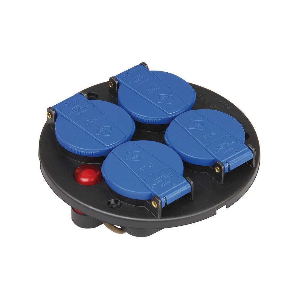 Wkład z gniazdami poczwórny IP44 230V/16A z zabezpieczeniem termicznym