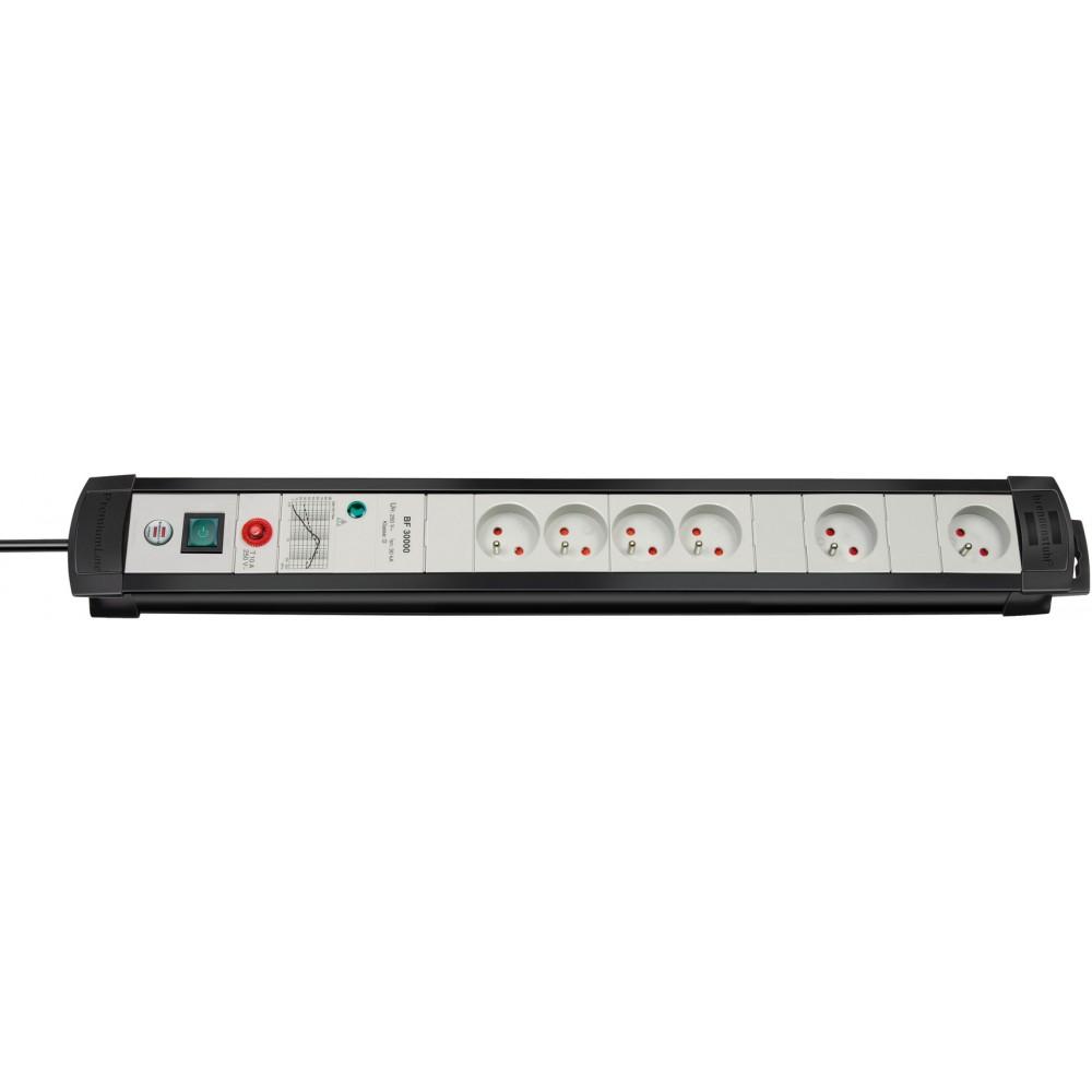 Premium-Line Technik 30.000A Listwa zasilająca przeciwprzepięciowa 4 gniazda czarny/jasnoszary 3m